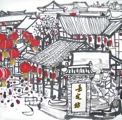 【图说】画家郭劲松手绘游子《春节回乐山》